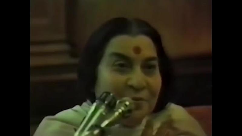 Лекция Матери - Чувство вины и Любовь Бога 11 05 1982 г