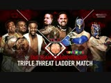 (WWE Mania) TLC 2015 The New Day vs The Usos vs The Lucha Dragons -- Ladder Match -- WWE Tag Team Chempiomship