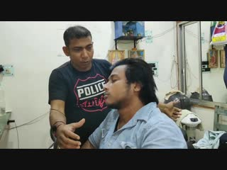 Indian head and body massage 💀Asim barber!!💀