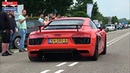 Cars Leaving DreamCars Coffee! - Huracan, AMG GTR, 458, 1000HP M3, 650S, 700HP RS6, Murcielago,...