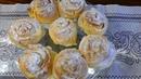 Pudding Schnecken mit Mandeln sehr soft