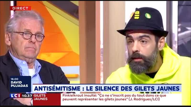 Jérome Rodrigues sur finkielkraut débat tendu avec cohn bendit...