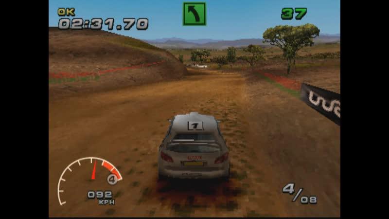 WRC FIA WORLD RALLY CHAMPIONSHIP ARCADE SUPER SPECIAL REVERSE EASY PEUGEOT 206 WRC PS1 2002
