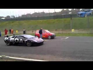 Lamborghini vs Fiat Drag 2013