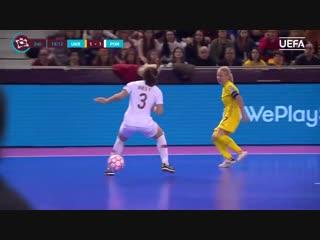 UEFA Womens Futsal EURO Semi-final highlights_ Ukraine 1-5 Portugal