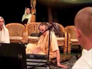 Niranjana Swami.VERY SPECIAL night kirtan on Janmastami  2010 in Almaty. Part 1