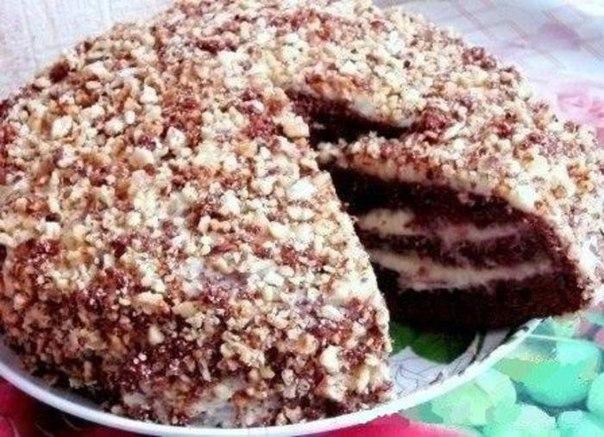Рецепт шоколадного торта на кефире фото