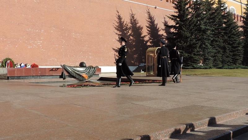 Смена почетного караула. Москва.