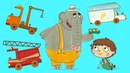 Colección de dibujos animados Coches de juguete Camiones