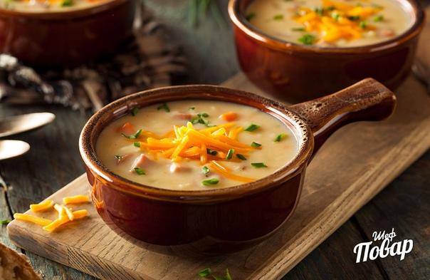 Суп без мяса с плавлеными сырками