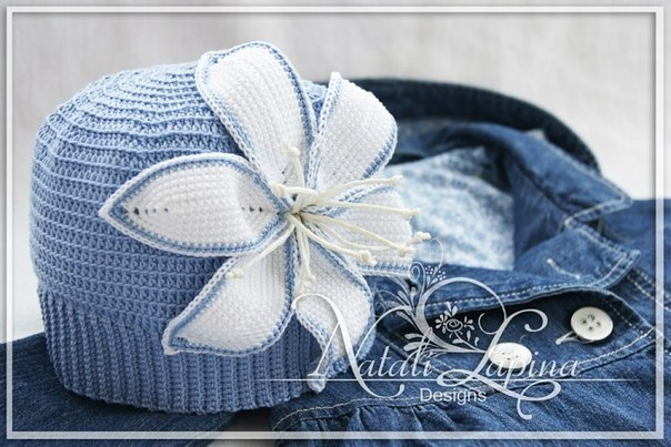 Шапочка для девочки Белая лилия (6 фото) - картинка
