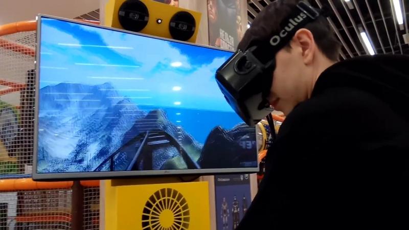Атракцион поезд амазонка. Очки виртуальной реальности