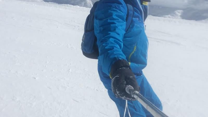 Бордист- берегись лыжников