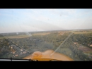 посадка самолета Aeroprakt A-22 вид из кабины пилота, Боровичи, аэродром Волгино, 17.08.2018