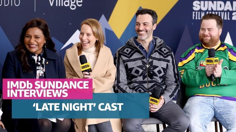 Mindy Kaling, Amy Ryan, Reid Scott, Paul Walter Hauser Nisha Ganatra Talk 'Late Night' at Sundance