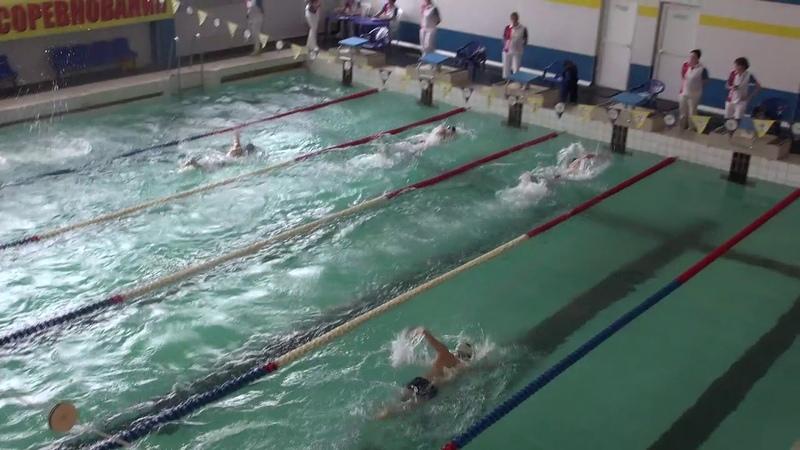 Плавание 100 метров мужчины - 6 заплыв - 14-18 марта 2019 Калуга