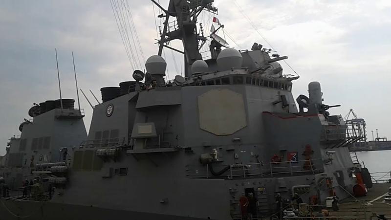 Эсминец ВМС США в Одессе Судно USS Porter DDG 78