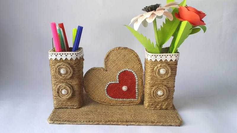 DIY: Best Out of Waste Toothpaste Box/ Easy Jute/Twine Craft Idea Recycled materials Craft