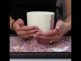Как нанести кондитерскую посыпку на торт