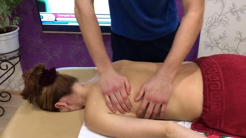 Классический массаж на спину