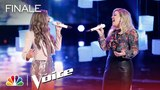 The Voice 2018 Brynn Cartelli and Kelly Clarkson - Finale: