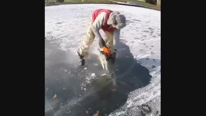 Удивительное событие запечатлил лед!