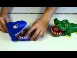 Игрушка - кусающаяся акула, кусающийся крокодил с музыкой