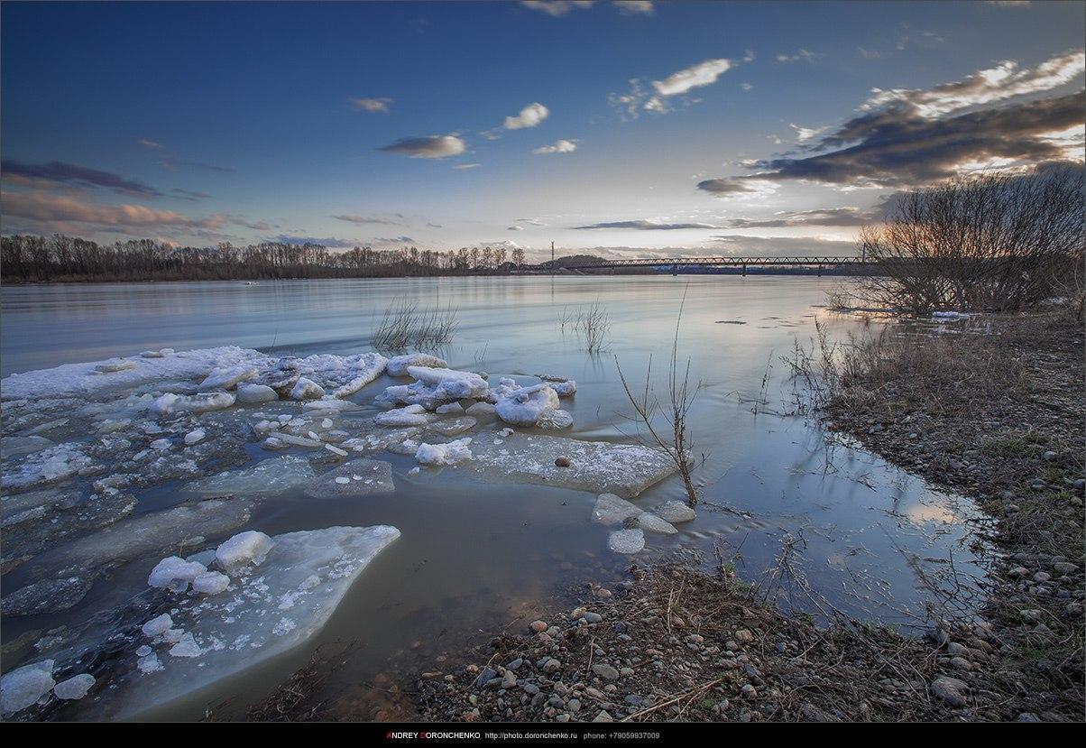 Томь, Новокузнецк, ледоход