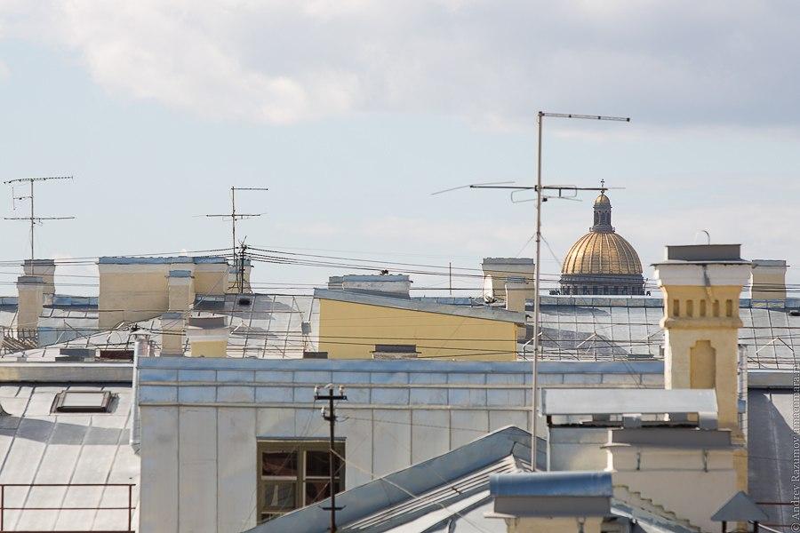 Прогулки по крыше в Санкт-Петербурге Исаакиевский собор