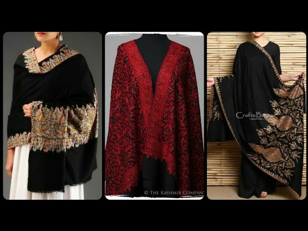 2018/2019 kashmiri and sawati pure peshmina handmade shawls with embroidered Paisleys/Ari embroidery
