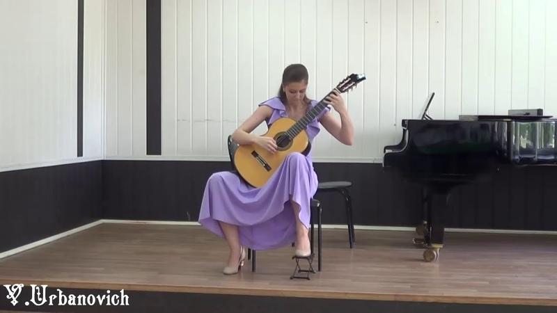 Елизавета Тетерина гитара Марио Кастельнуово Тедеско Тарантелла