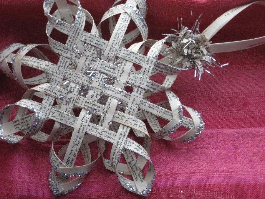 Новогодний декор. 3d снежинки своими руками