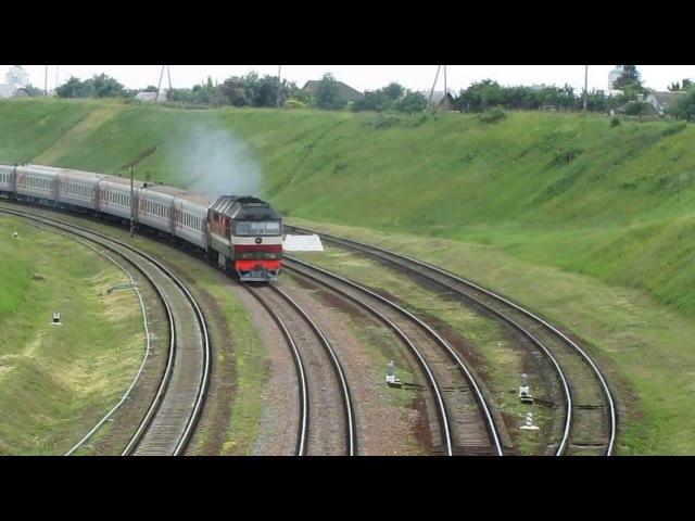 БЧ / РЖД ТЭП70-0207 с поездом Одесса-Санкт-Петербург