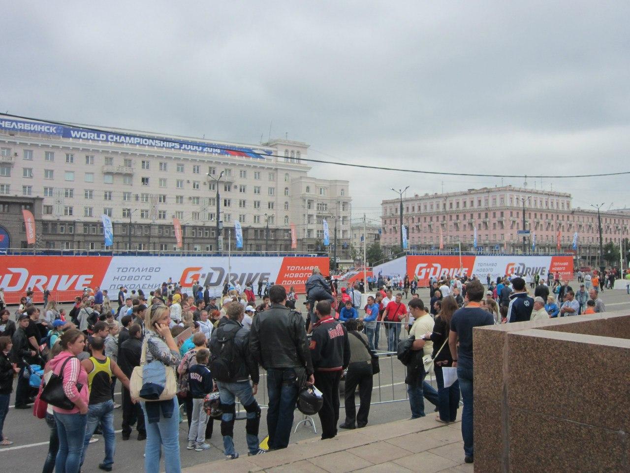 Трибуны G-Drive Show наплощади Революции (Челябинск, 3.08.2014)