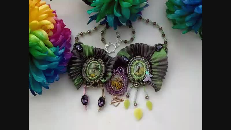 Зимний конкурс от магазина Ленты шибори shibori jewelry design SPb✨💎🌛💭🌖✨🌚✨ Колье Сны долины эльфов.