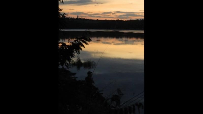 Вечер на реке Нижняя крынка - Донбасс.