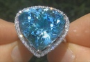 GIA Certified Internally Flawless Natural Aquamarine Diamond Estate Ring - C526