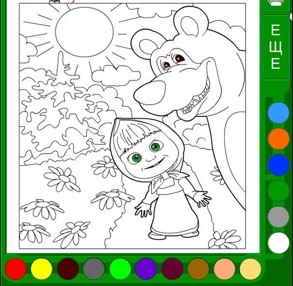 Раскраска рисовать онлайн
