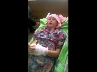Раненая девочка с Донбасса передает послание #Порошенко