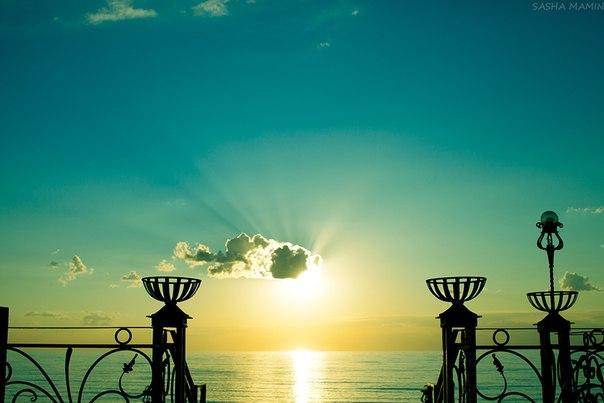 Закат на Азовском море.
