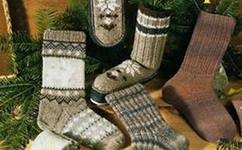 Носки и гольфы без пятки.  Вяжем спицами. носки с норвежским узором.