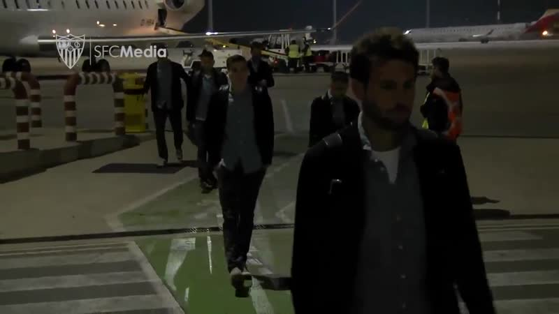 El SevillaFC ya está en Castellón. - - Mañana VillarrealSevillaFC