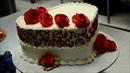 Украшение тортов Как украсить торт в форме сердца пошагово❤