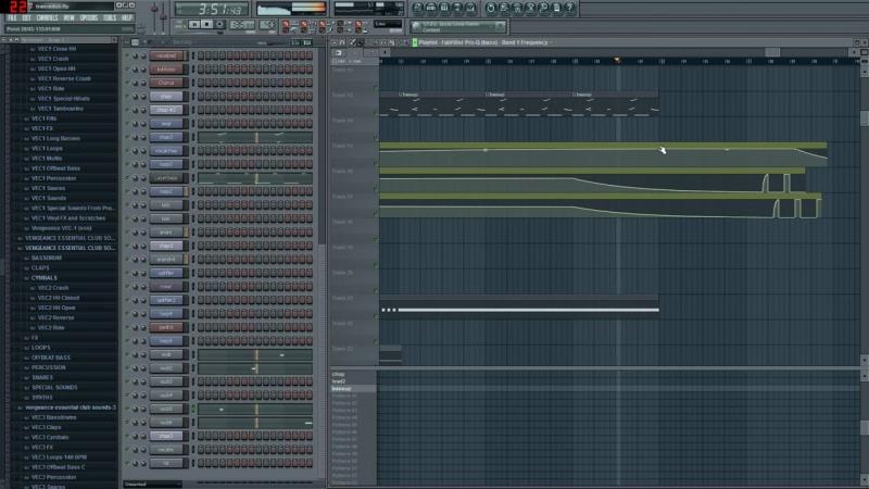 Fl Studio Project View (Nezo - Explosion (Original Mix))