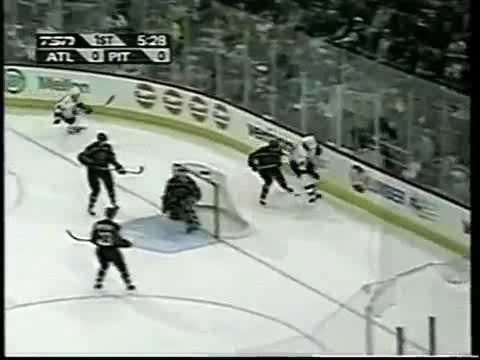 Alexei Morozov goal vs Thrashers from great Mario Lemieux pass (2002)