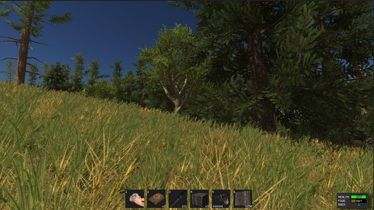 Улучшенная Трава в игре Rust