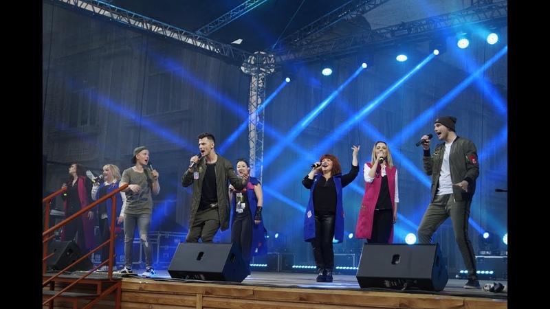 Хор Михаила Бублика - Концерт в Артемовском (День города 01.07.17)