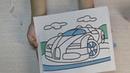 Творческие занятия с детьми Фреска из песка Art classes for children Fresco from the sand