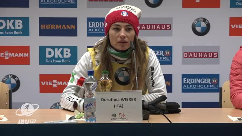 Пресс конференция после женского спринта 13.12.2018 Хохфильцен