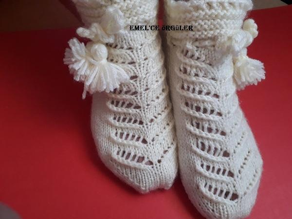 İki şişli çorap patik yapımı diy